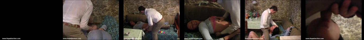 Ciemnowłosa ruska laleczka zgwałcona