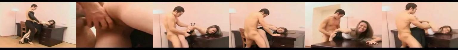 Chłopak gwałci dziewczynę na biurku i krześle