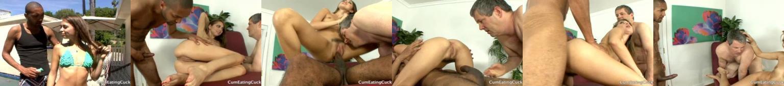 Riley Reid rucha się z Murzynem na oczach męża i zmusza go do obciągania czarnego kutasa