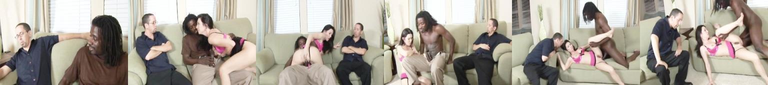 RayVeness nie ma ochoty ruchać się z Murzynem, ale jej mąż na to nalega
