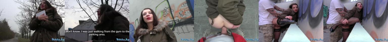 Wyrwana na ulicy amatorka wydymana od tyłu w przejściu podziemnym