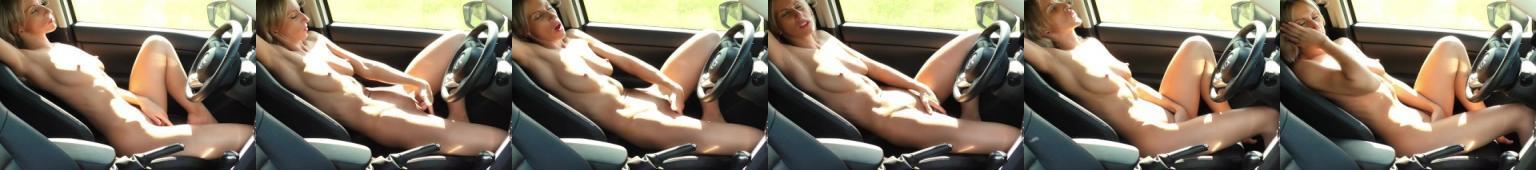 Masturbacja po długiej jeździe samochodem