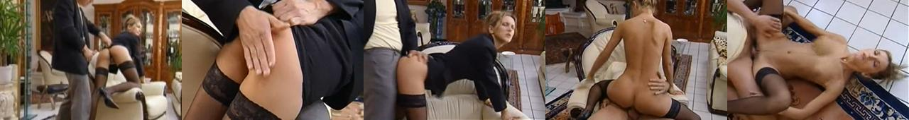 Frywolna sekretarka daje swojemu szefowi