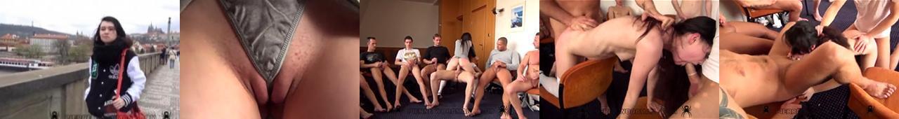 Brutalne, grupowe porno z polską nastolatką