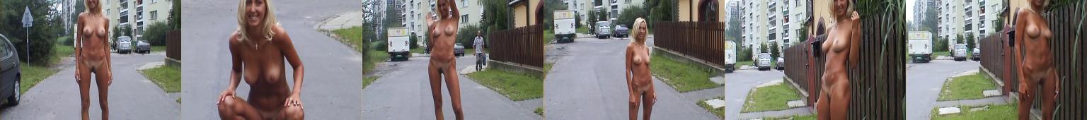 Polskie osiedle i naga dziewczyna