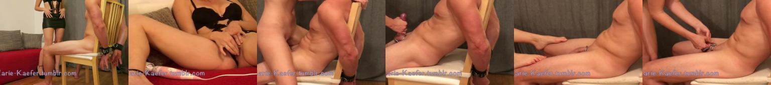 Dominująca kobieta zajmuje się fiutem