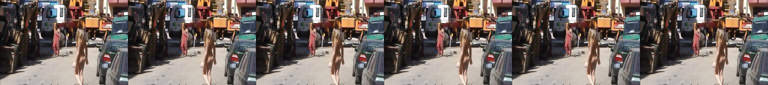 Goła Agnieszka na ulicy podnieca robotników