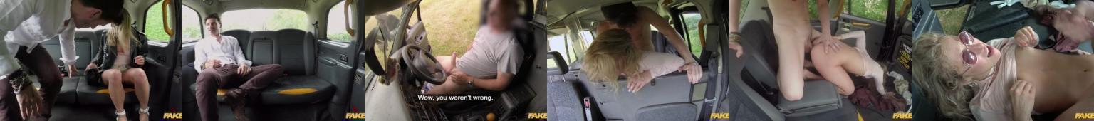Szybkie bzykanko amatorki w taksówce