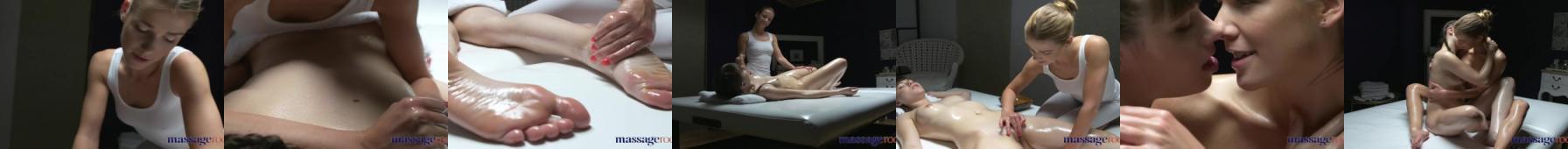 Intymny masaż dwóch lesbijek