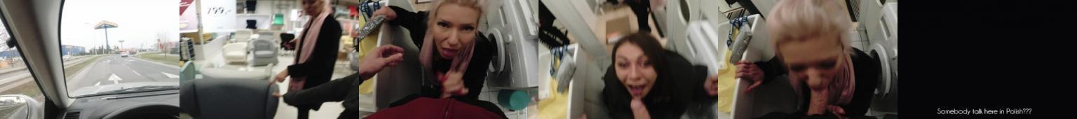 Szybki lodzik w  Ikei w wykonaniu dwóch napalonych ciziek.