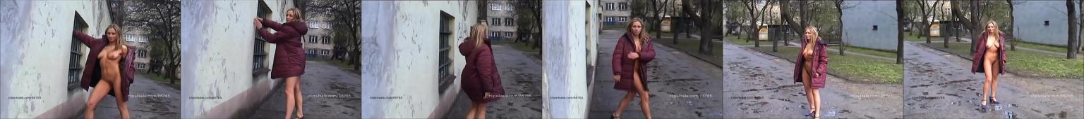 Ewelina chodzi nago po osiedlu