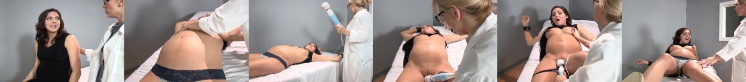 Panienka w ciąży doprowadzona do orgazmu przez Panię lekarz